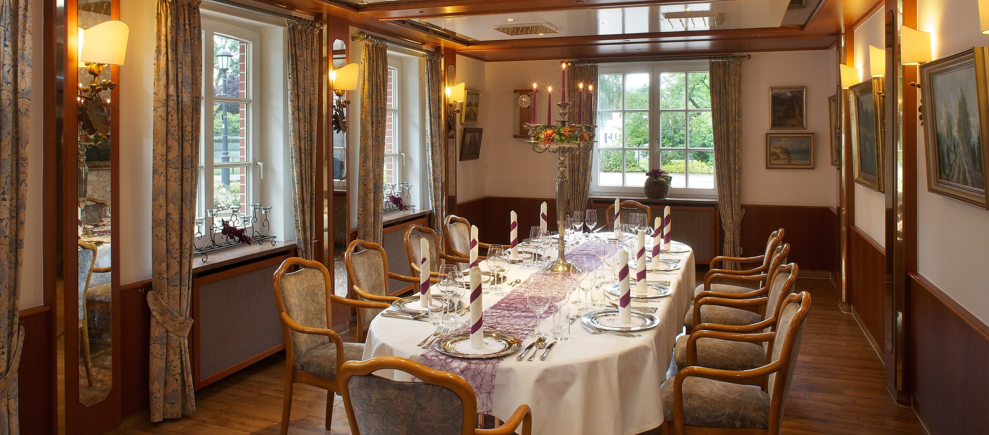 Restaurant in the Ringhotel Sellhorn in Hanstedt, 4-stars hotel in the Luneburg Heath region