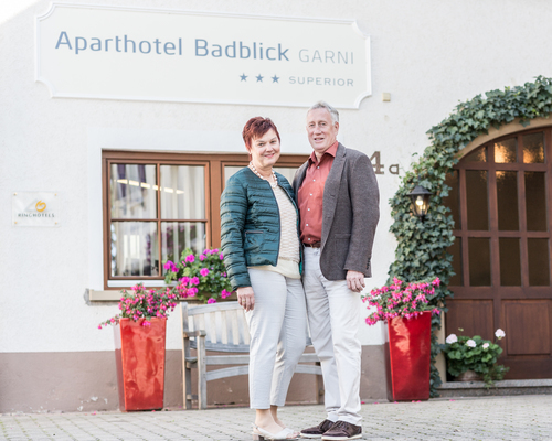 Hosts in the Ringhotel Aparthotel Badblick garni in Bad Bellingen, 3 stars hotel in the Black Forest