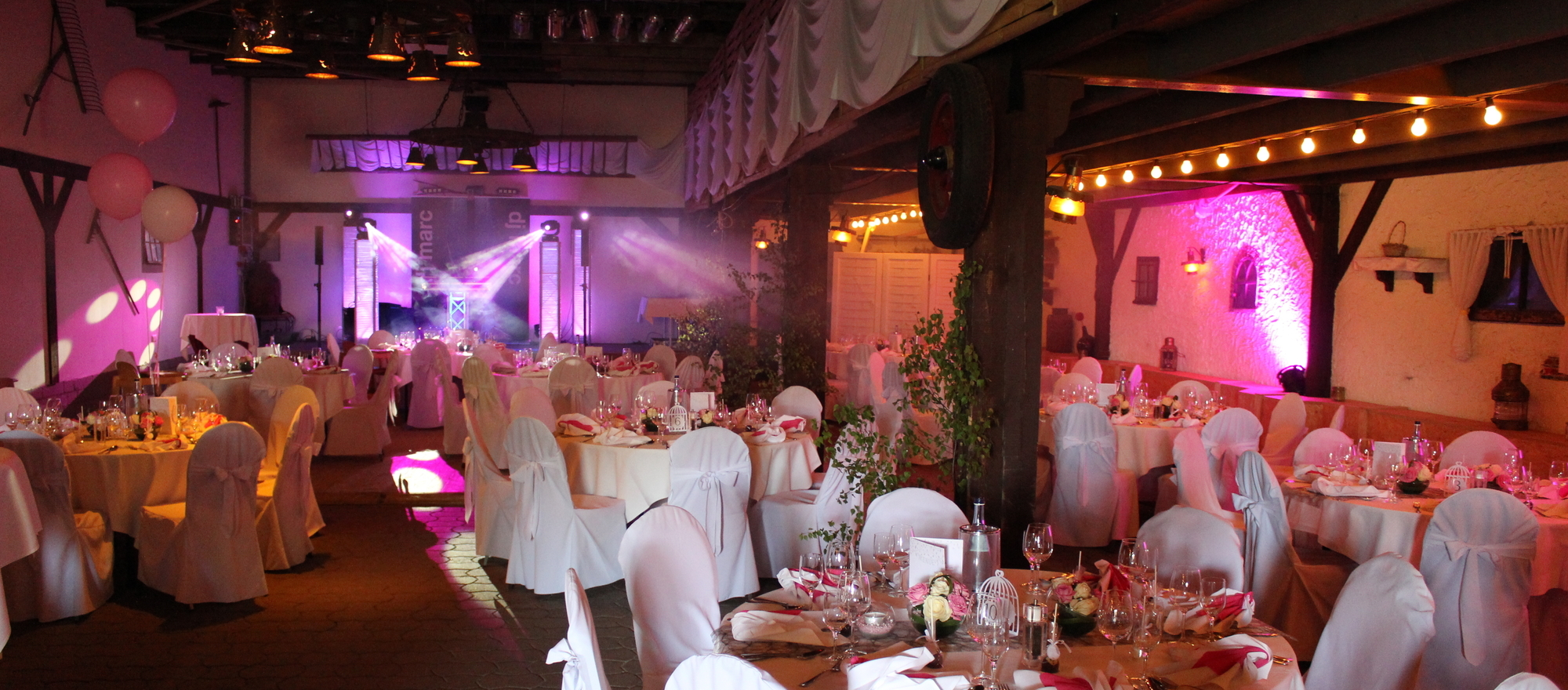 Party barn for celebrations in the Ringhotel Forellenhof in Walsrode, 4-stars Hotel in the Lueneburger Heide