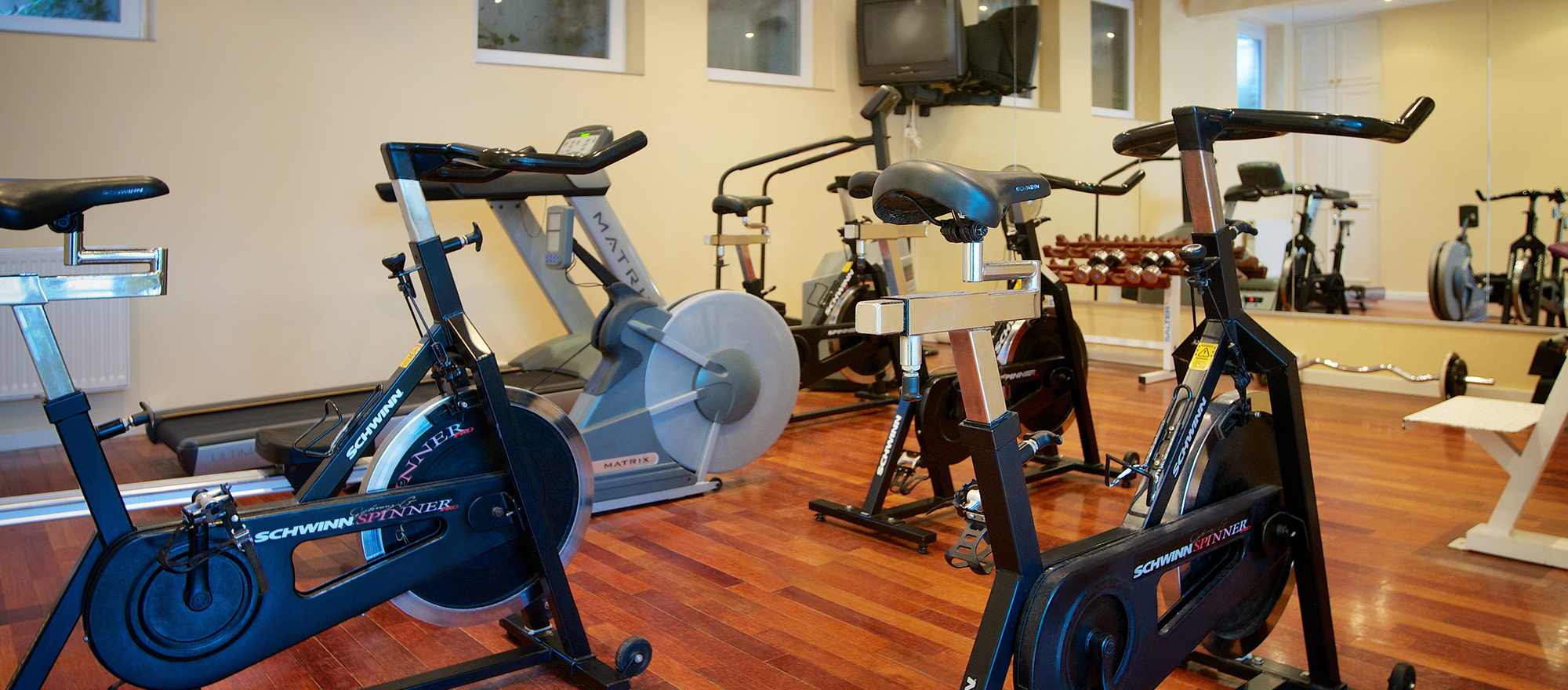 Gym in the Ringhotel Hohe Wacht in Hohwacht, 4-stars superior hotel close to the Baltic Sea