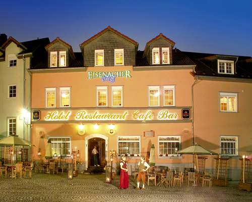 Entrance of the Ringhotel Lutherhotel Eisenacher Hof in Eisenach, 4 star hotel in Thuringian Forest