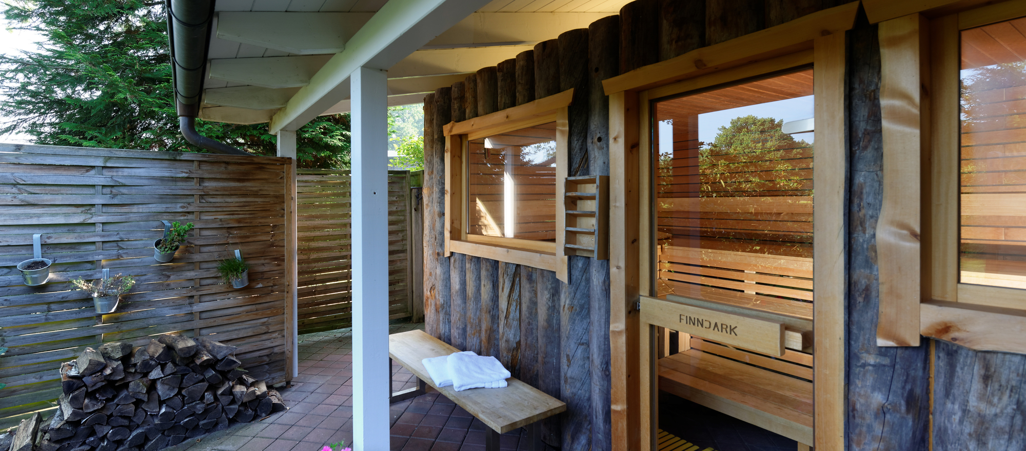 Finnish sauna in the Ringhotel Sellhorn in Hanstedt, 4-stars hotel in the Luneburg Heath region