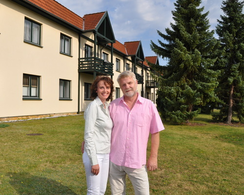 Joerg Broscheit und Antje Zscherpe, your hosts in the Ringhotel Dreiwasser in Sternberg