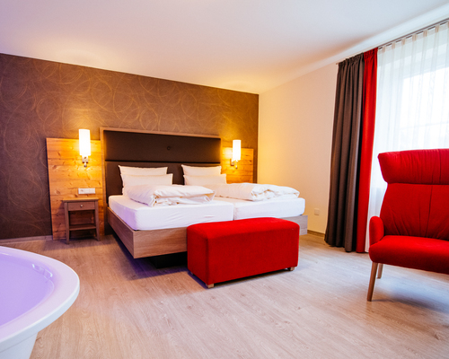 Big and modern equipped rooms at the Ringhotel Forellenhof in Walsrode, 4-stars Hotel in the Lueneburger Heath