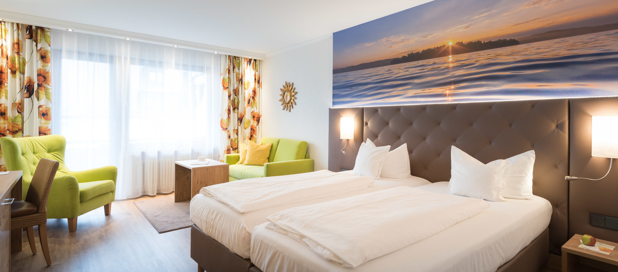 Room Sonnenbuechel in the Ringhotel Krone in Friedrichshafen, 4 stars superior hotel at Lake Constance