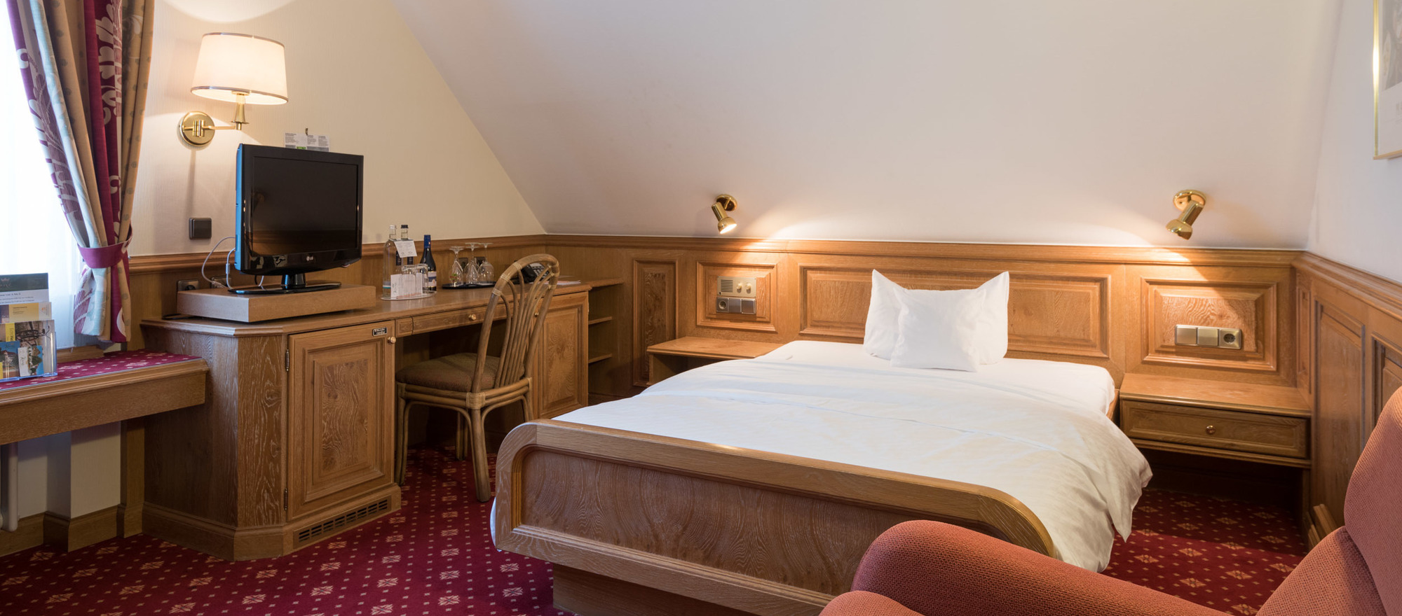 Single room in the Ringhotel Krone in Friedrichshafen, 4 stars superior hotel at Lake Constance
