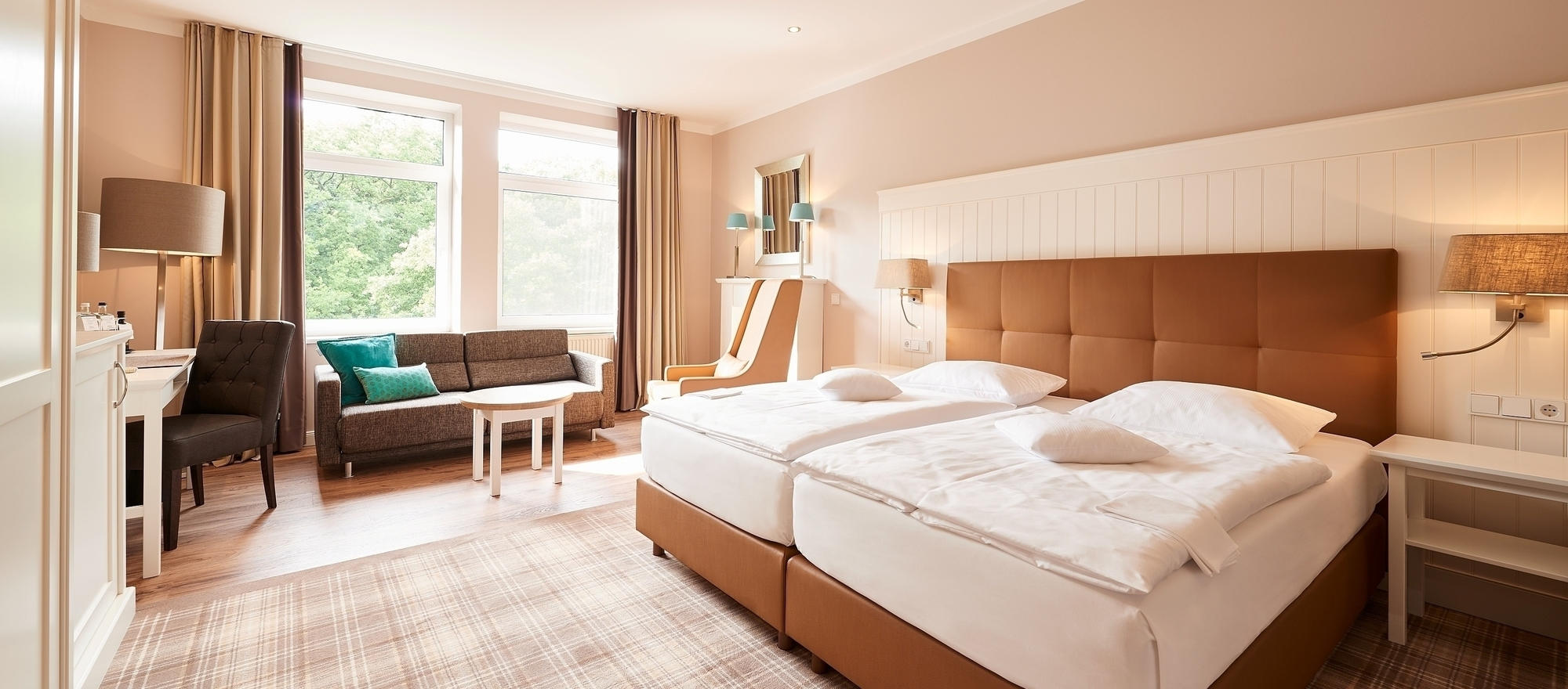 Exclusive and stylish furnished deluxerooms at the 4-star hotel Ringhotel Munte am Stadtwald in Bremen