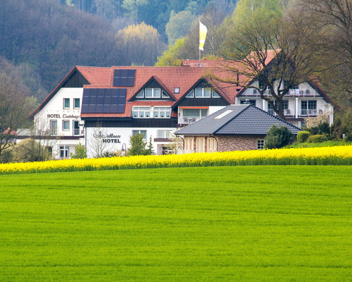 The 4-star-superior hotel Ringhotel Teutoburger Wald in Tecklenburg is established in the northern Teutoburg Forest/Wiehen mountain nature reserve