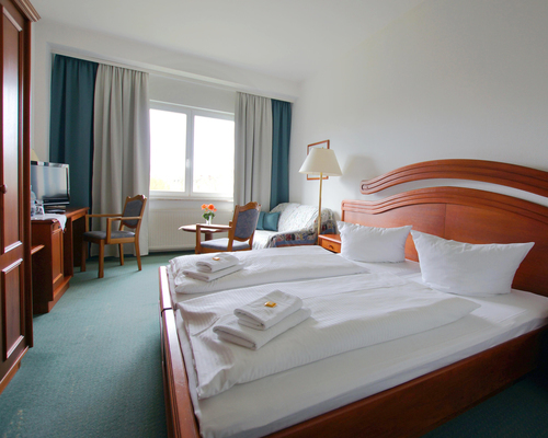 Double room in the Ringhotel Dreiwasser in Sternberg