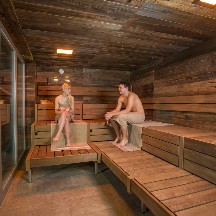 Herbal sauna in the Alfen Saunaland at the 3-star-superior hotel Ringhotel Alfsee Piazza in Rieste