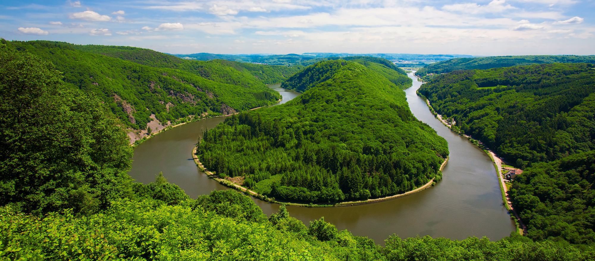 Saar loop from the viewpoint cloef in the Saarland