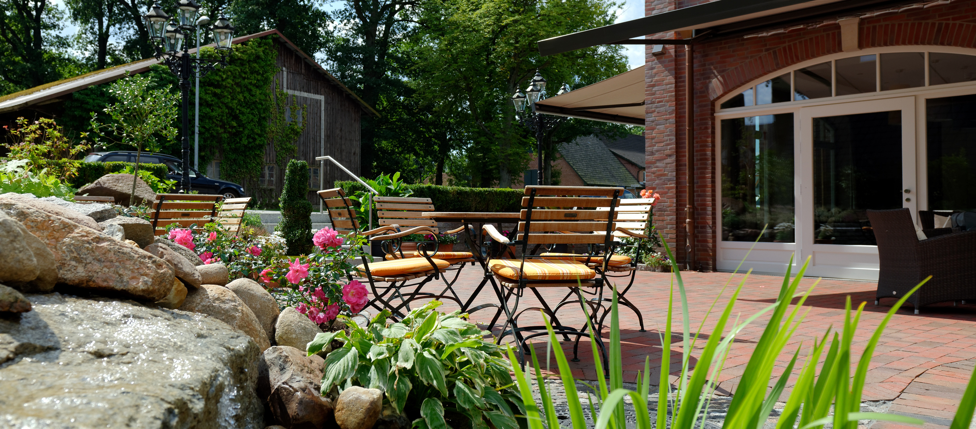 Coffee garden in the Ringhotel Sellhorn in Hanstedt, 4-stars hotel in de Lueneburg Heath
