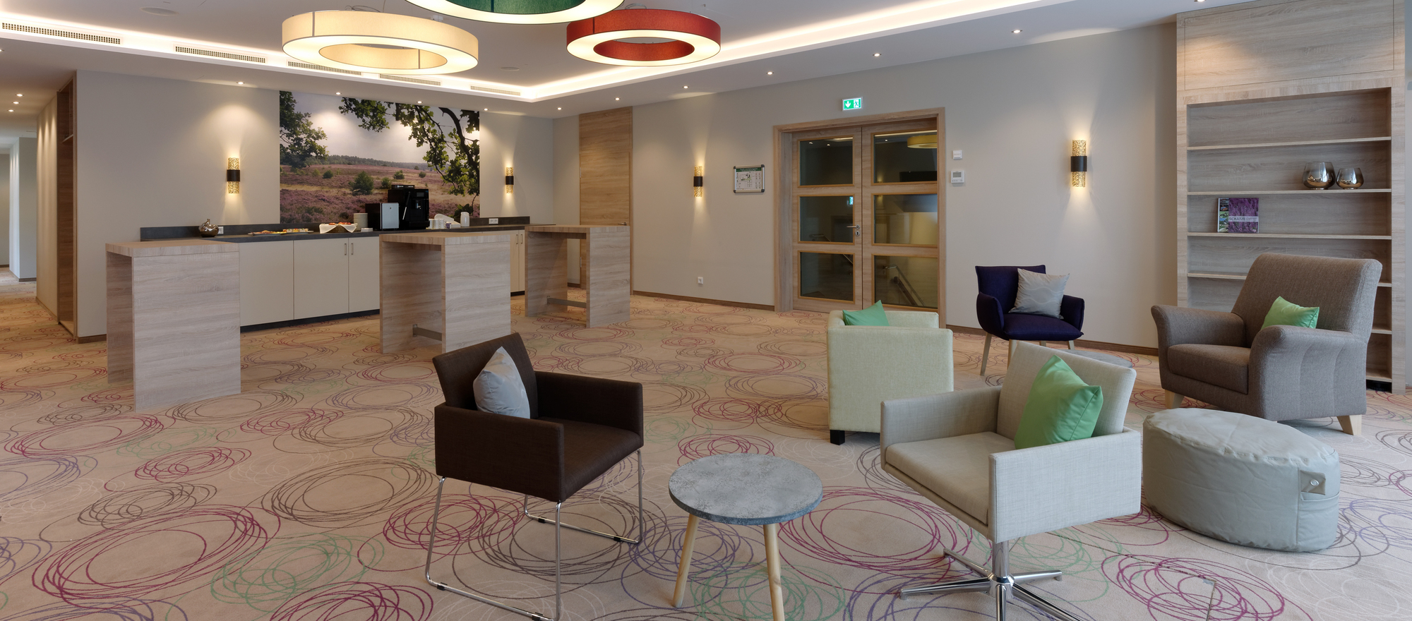 Conference lobby in the Ringhotel Sellhorn in Hanstedt, 4-stars hotel in de Lueneburg Heath