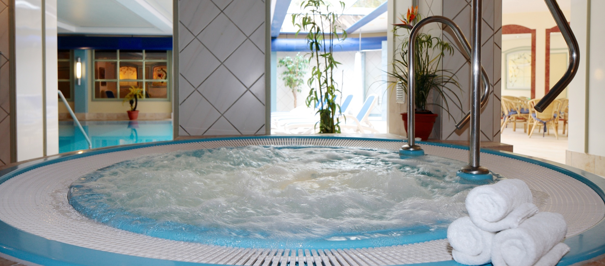 600 sqm sauna and wellness area for the perfect relaxation in the 4 star hotel Ringhotel Fährhaus in Bad Bevensen