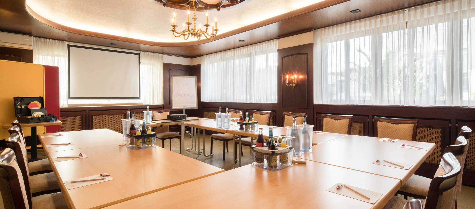 Conference room at the 3-star-superior hotel Ringhotel Reubel in Nuremberg-Zirndorf