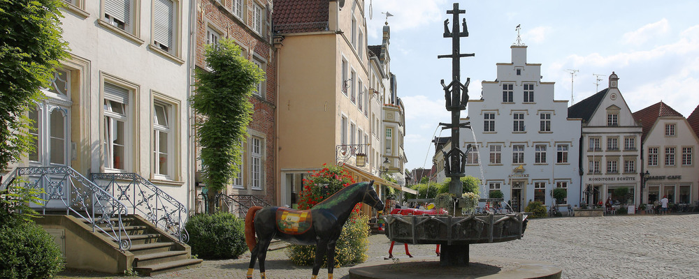 Marketplace of Warendorf, Ringhotel Mersch in Warendorf, 4-star hotel in the Muensterland