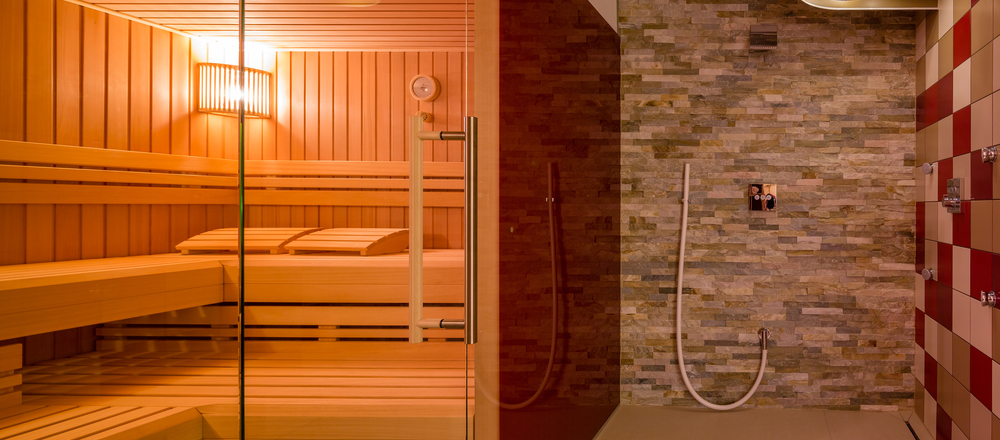 Sauna at the 3-star-superior Ringhotel Aparthotel Badblick garni in Bad Bellingen