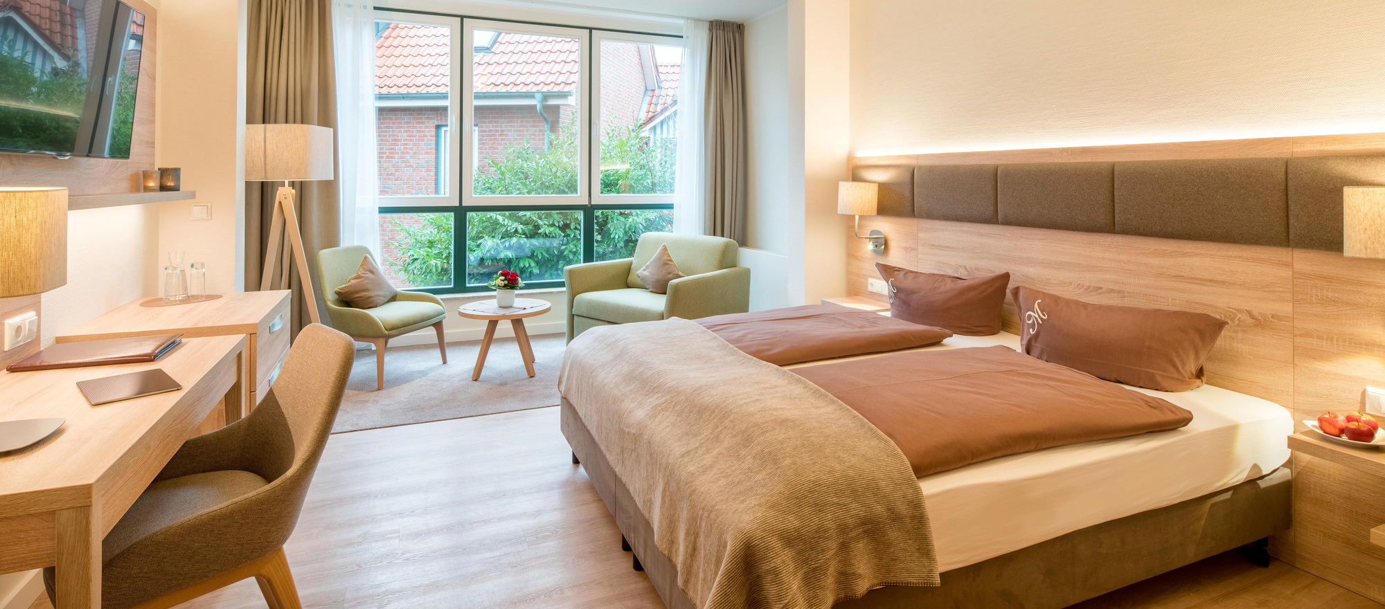 Double room in the Ringhotel Altes Zollhaus, 4-star hotel on the North Sea coast