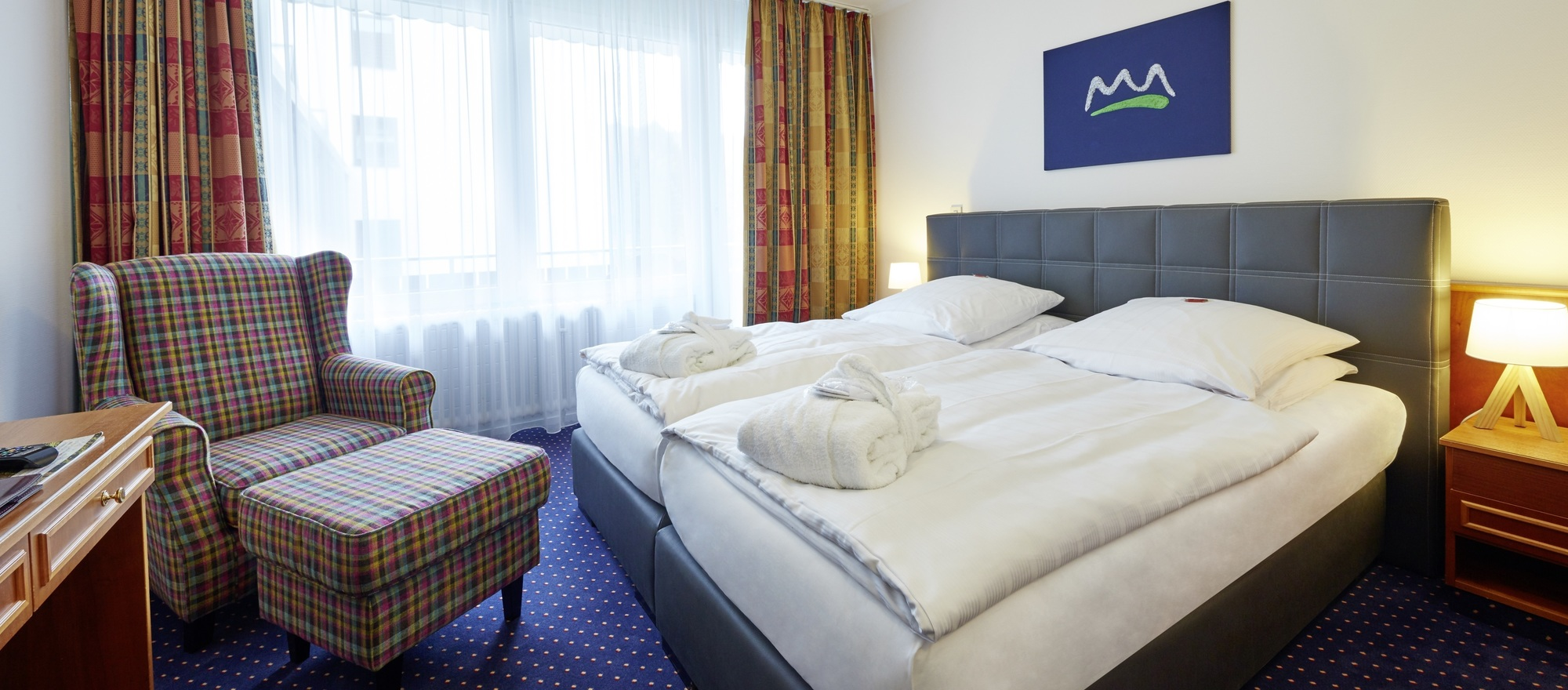 Comfortable double rooms at the 4-star hotel Ringhotel Waldhotel Baerenstein in Horn-Bad Meinberg