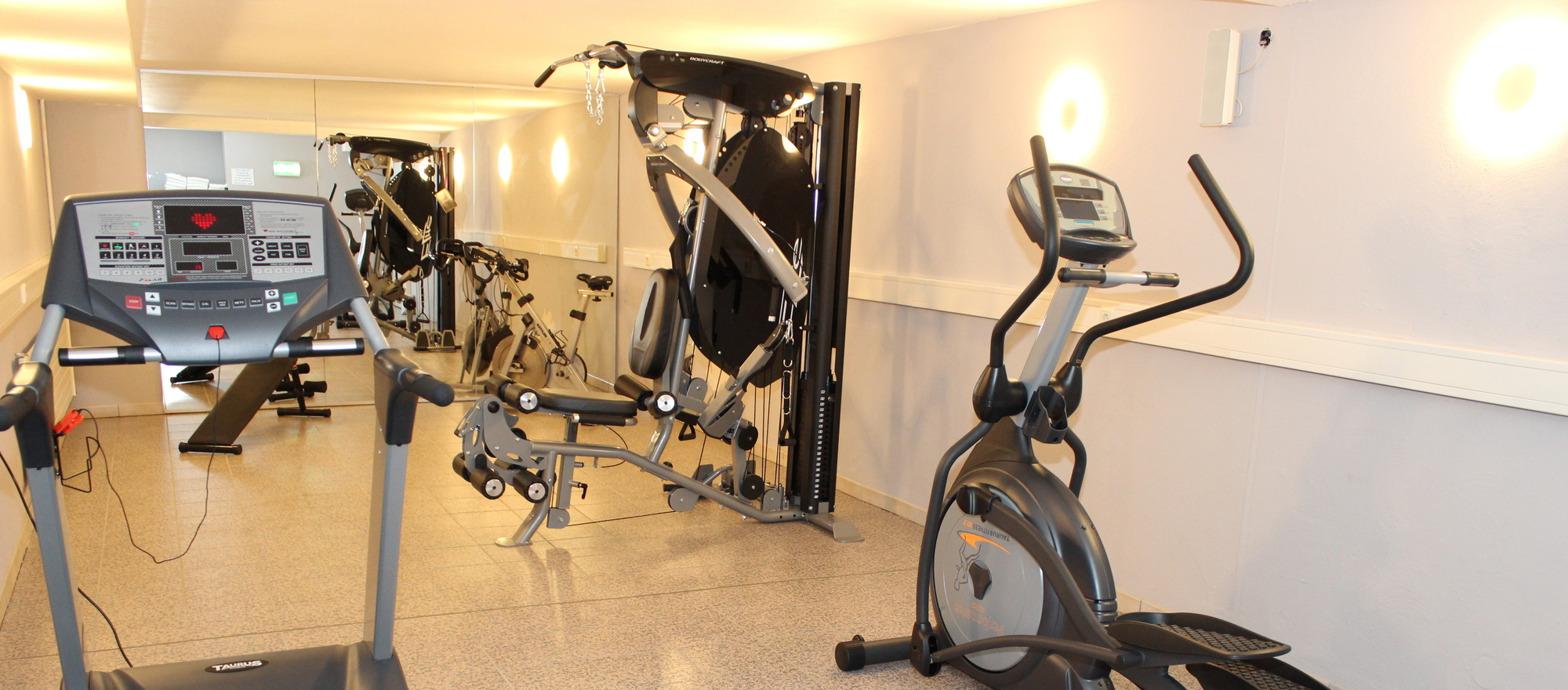 Gym in the Ringhotel Haus Oberwinter, 3 stars superior hotel in the Metropolitan Area Bonn