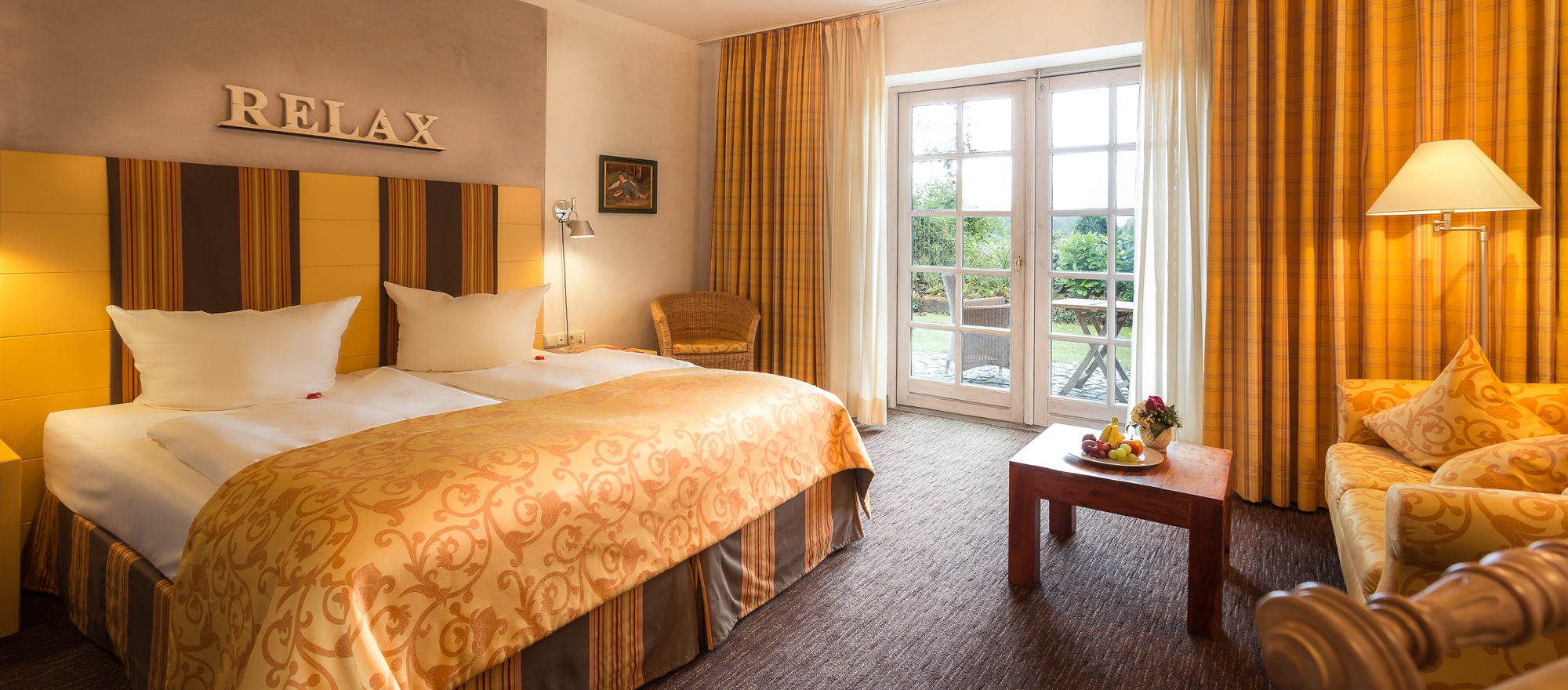 Stylish well equiped rooms at the hotel Ringhotel Friederikenhof in Luebeck-Oberbuessau
