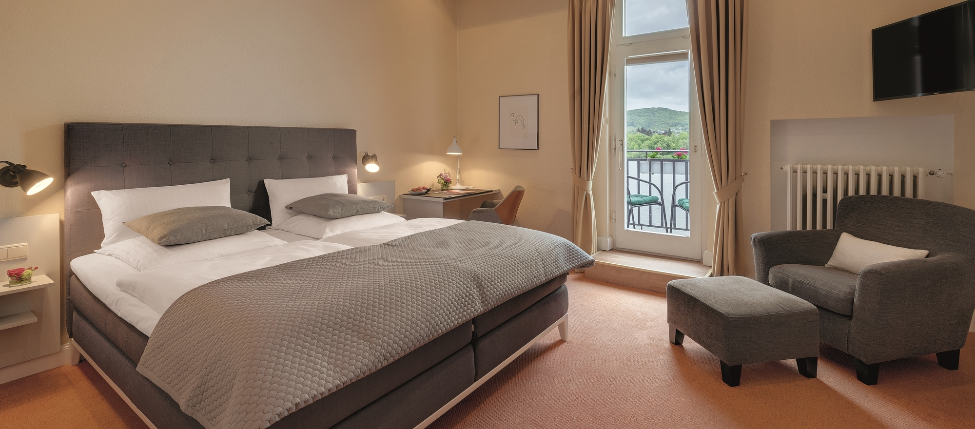 Double room  in Ringhotel Rheinhotel Dreesen in Bonn-Bad Godesberg, 4-star hotel in the metropolitan region Bonn