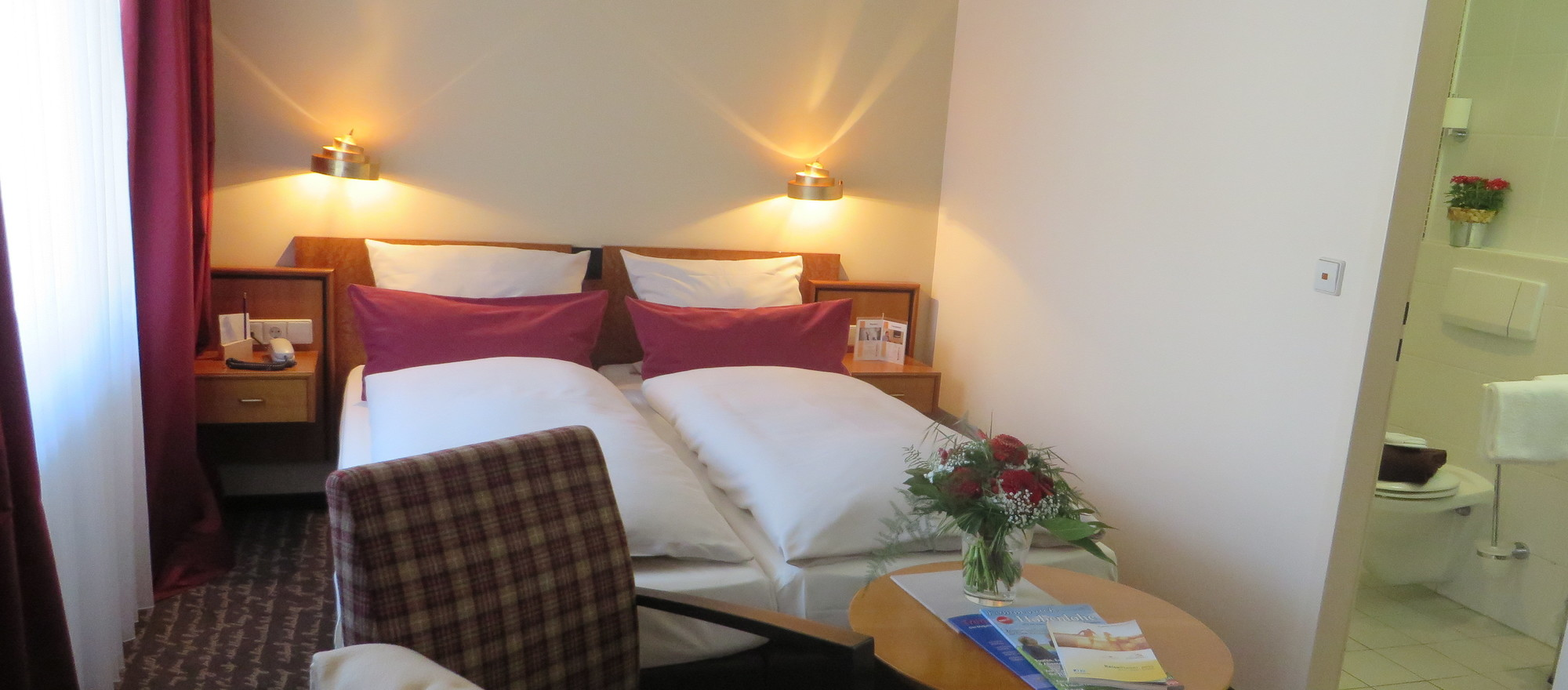 Double room at the 4-star hotel Ringhotel Bundschu in Bad Mergentheim