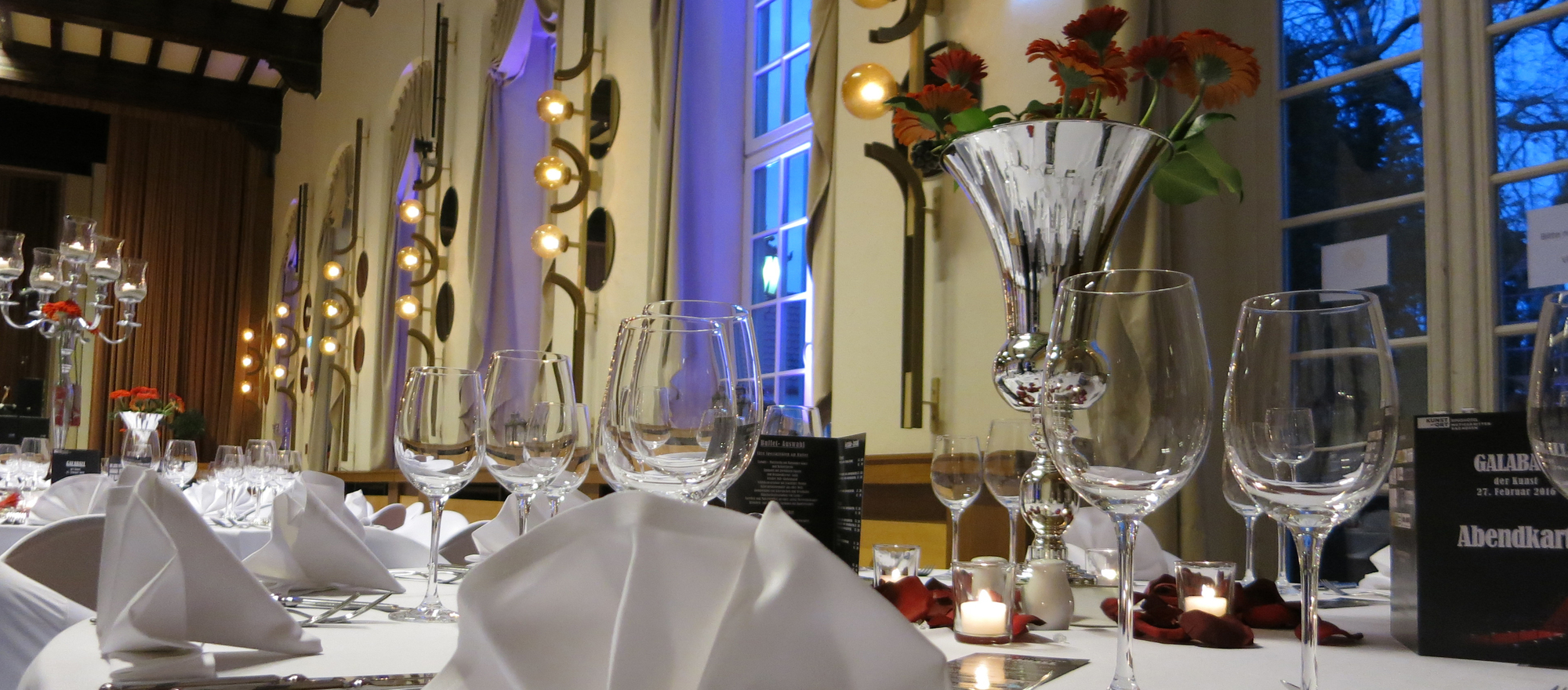 Romantic elegant rooms for celebrations in the hotel Ringhotel Mutiger Ritter in Bad Koesen