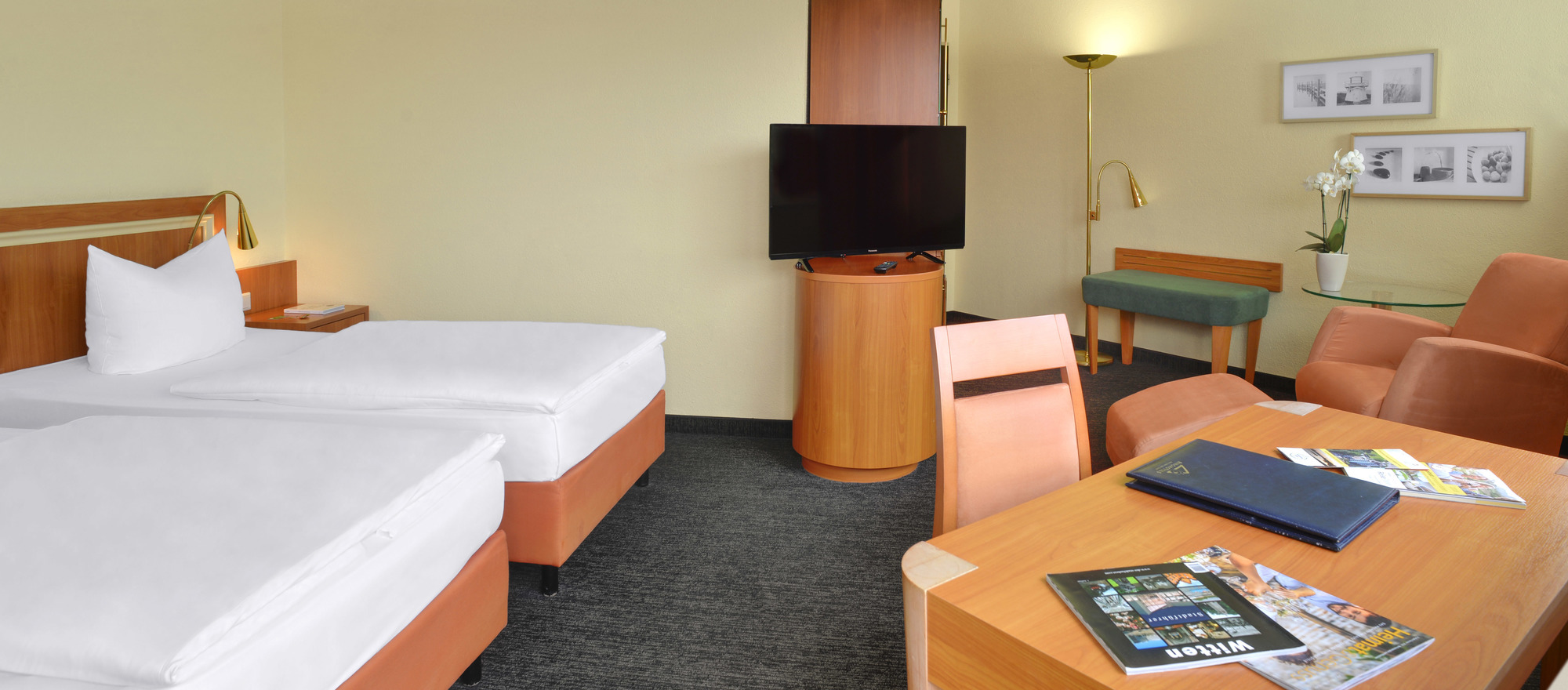 Well equiped rooms at the 3-star-superior hotel Ringhotel Parkhotel Witten in Witten