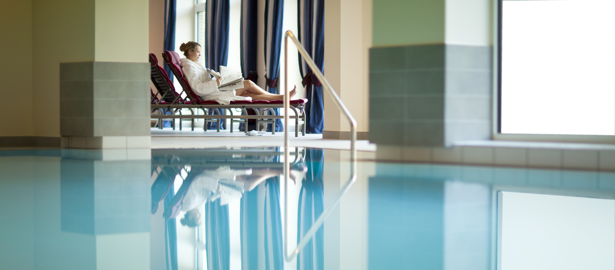 Indoor pool at the 4-star-superior hotel Ringhotel Waldschloesschen in Schleswig