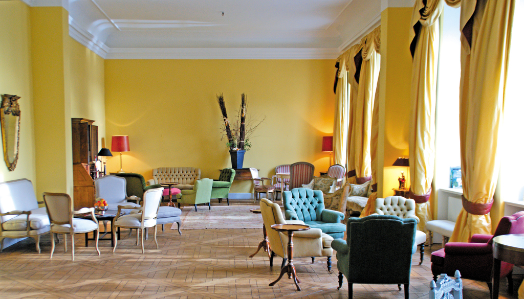 Cozy lounge at the Castle Hotel Jagdschloss Kotelow - German Castles