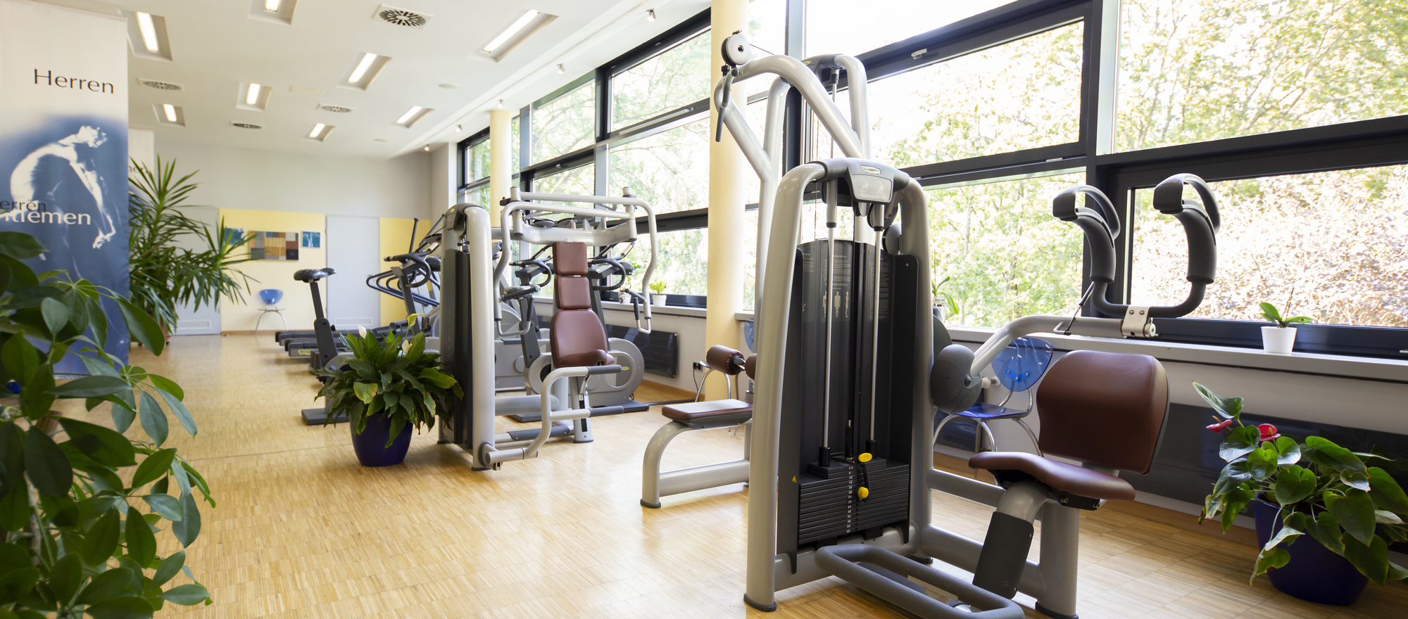 Spacious fitness center at the Ringhotel Villa Westerberge, 3-star hotel in Aschersleben