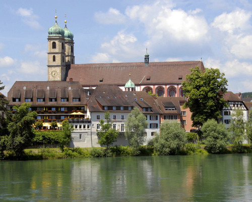 Situated on the Rhine river, on Ringhotel Goldener Knopf in Bad Saeckingen, 4 star Hotel in the Black Forest