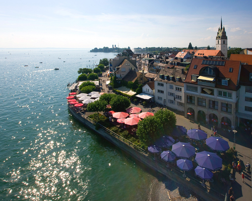 Riverwalk Friedrichshafen close to the 4-star-superior hotel Ringhotel Krone in Friedrichshafen