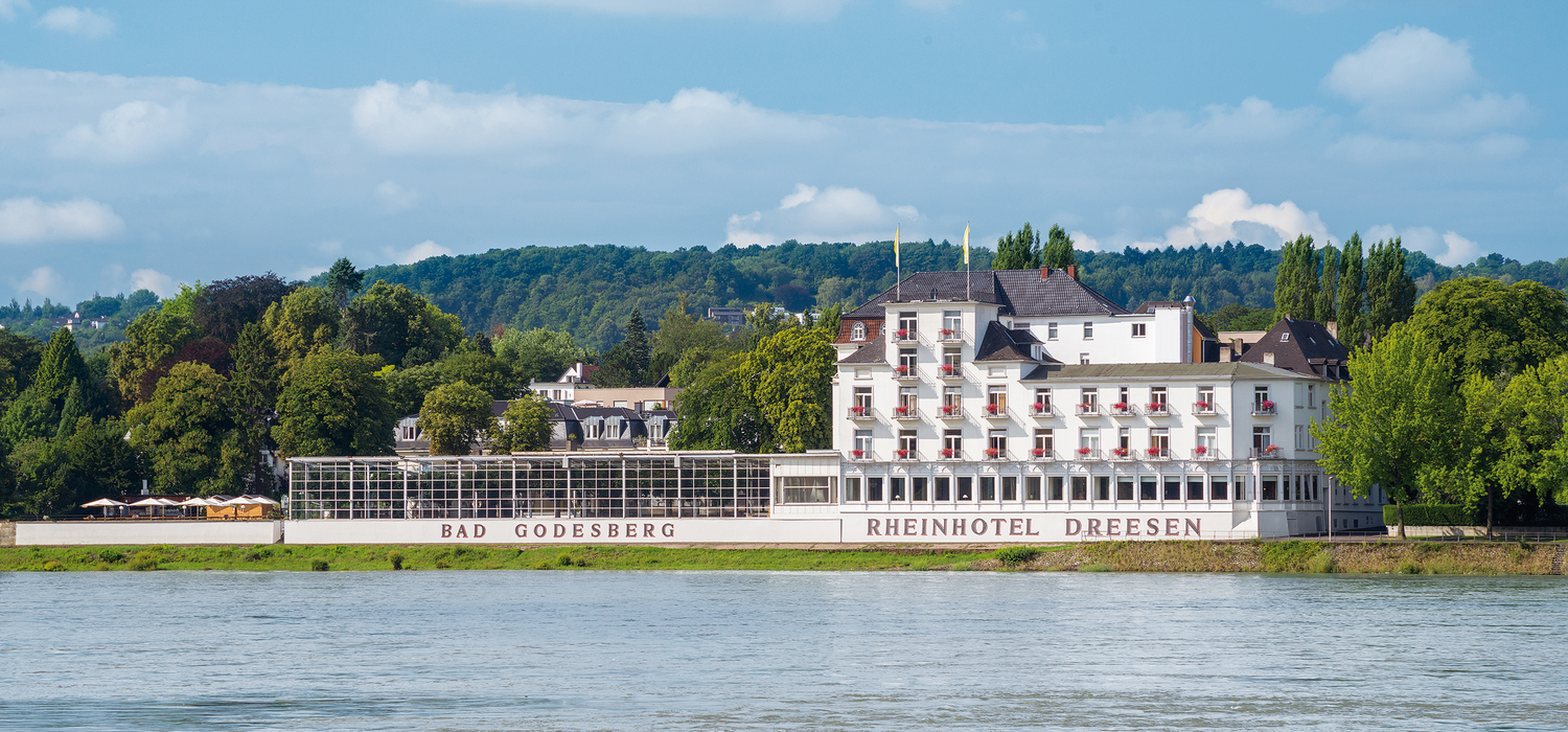 Directly located at the Rhine: Ringhotel Rheinhotel Dreesen in Bonn-Bad Godesberg, 4-star hotel in the metropolitan region Bonn