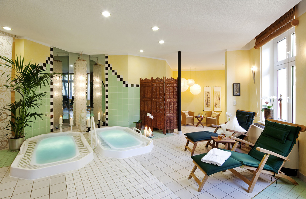 Relaxing in the spa area of the 4-star-superior Ringhotel Vitalhotel ambiente in Bad Wilsnack