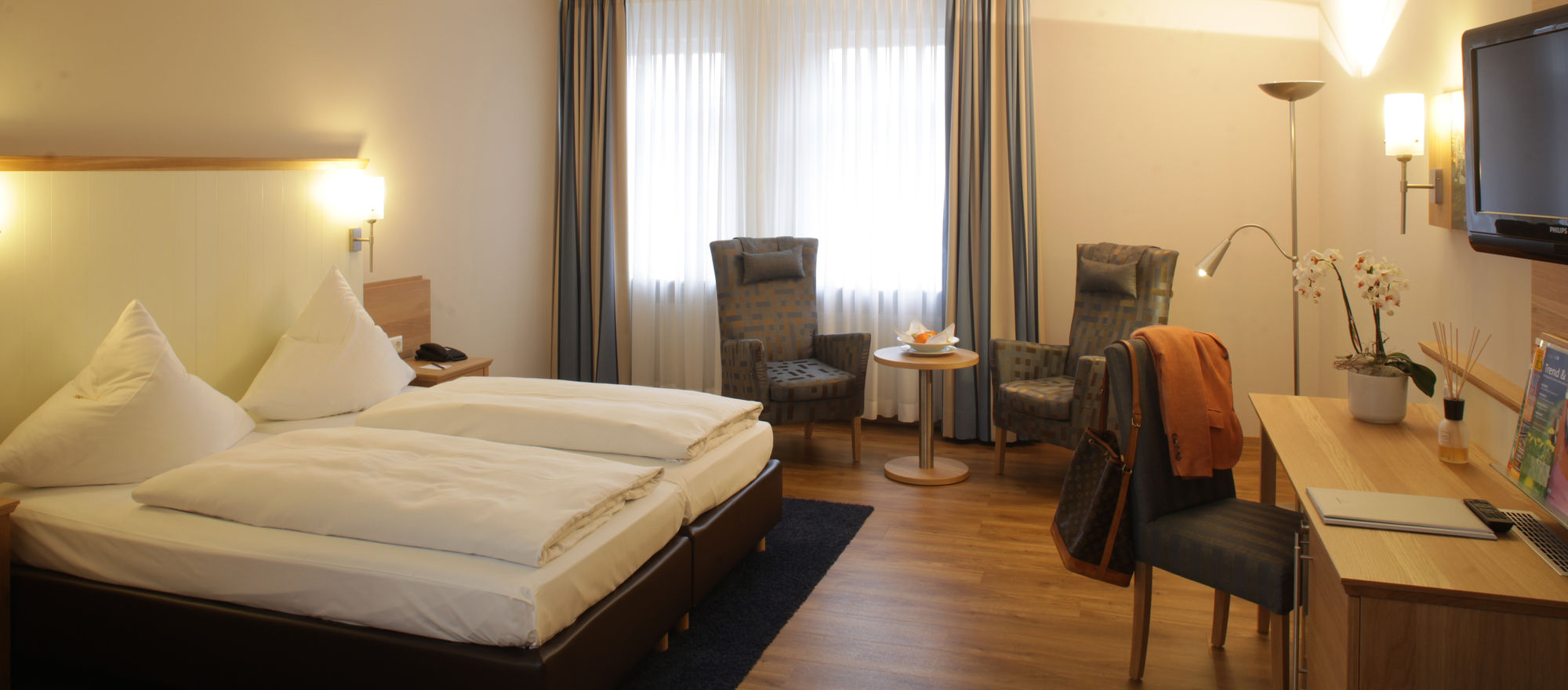 Superior room in Ringhotel Aquarium Boddenberg in Friedrichstadt, 4 star hotel at the north sea