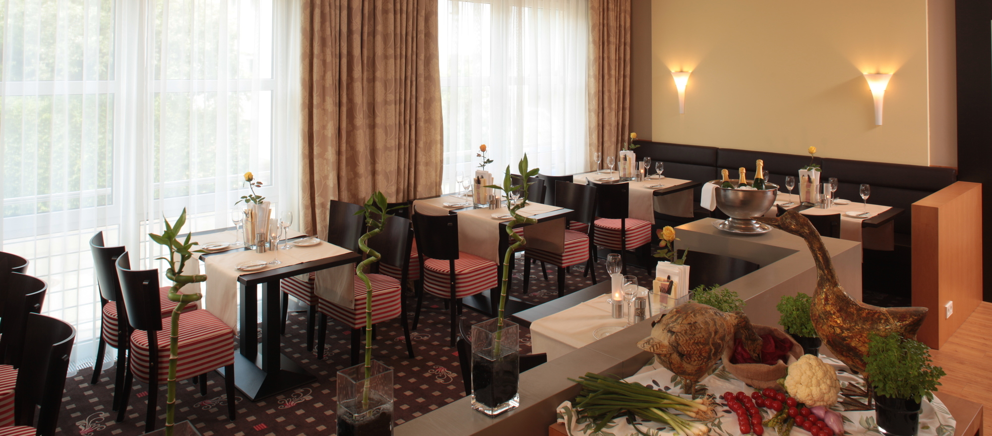 Small genteel bistro at the 4-star hotel Ringhotel Bundschu in Bad Mergentheim