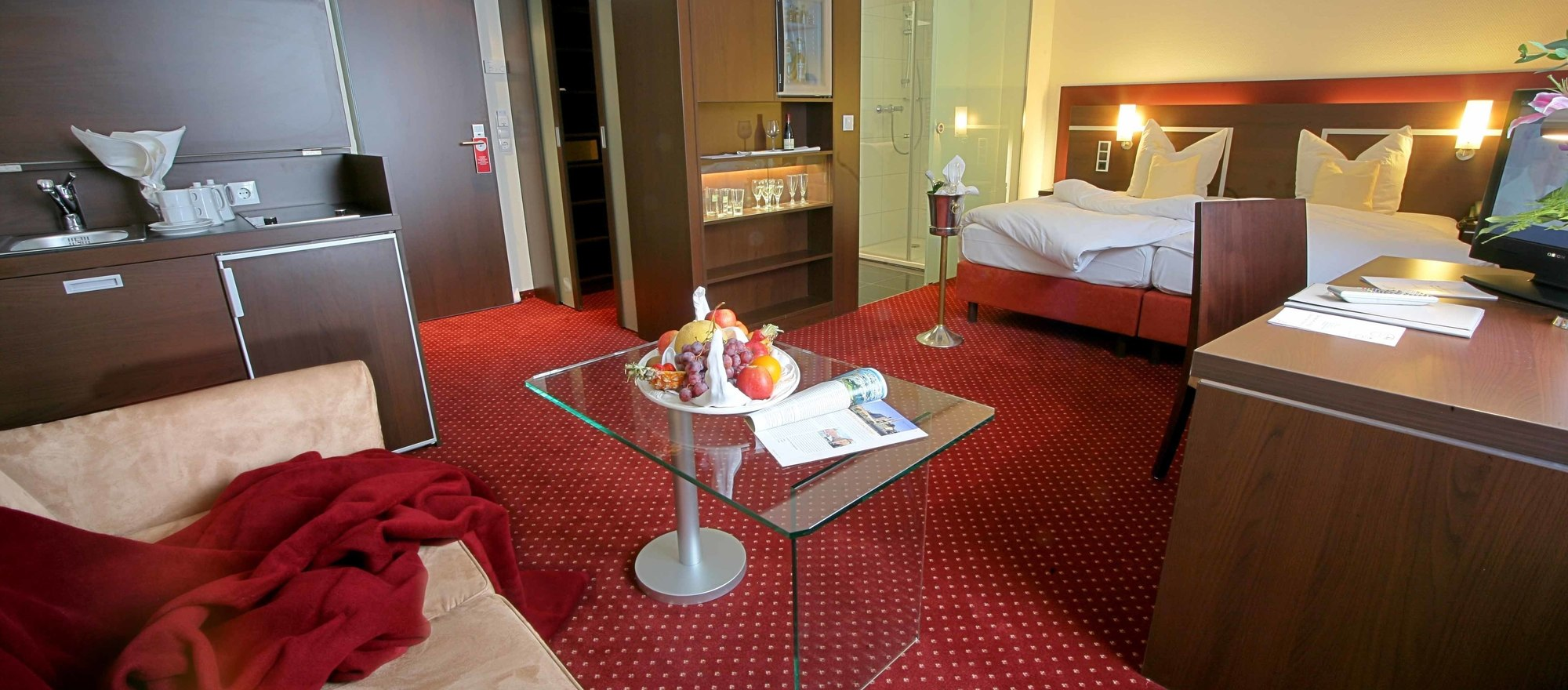 Stylishly decorated guest rooms at the 4-star Ringhotel Drees in Dortmund