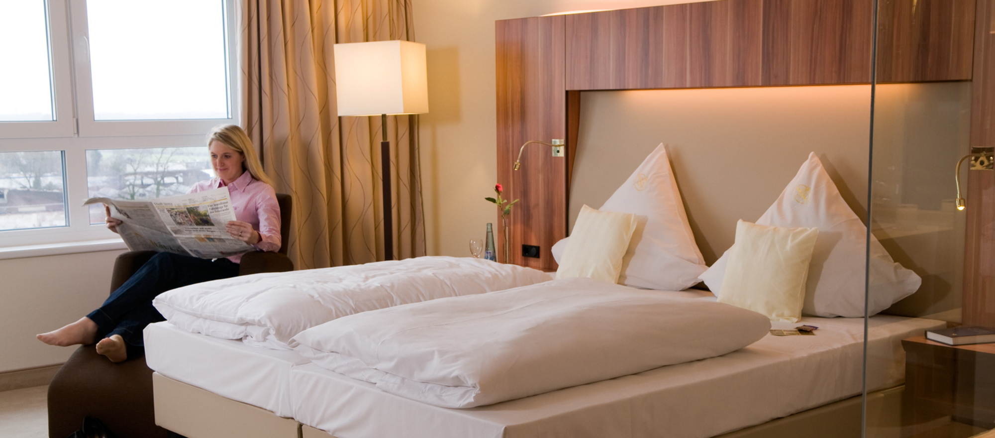 Some rooms are equipped with a heated water bed at the 4-star hotel Ringhotel Katharinen Hof in Unna