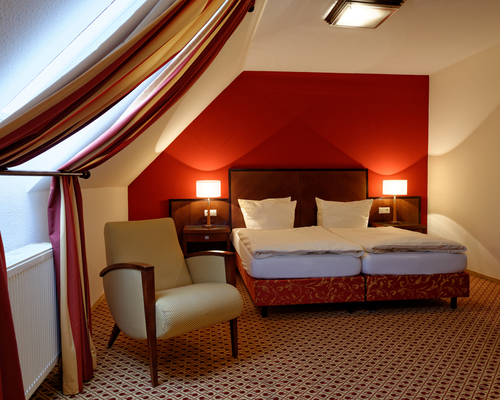 Particularly popular as 'Honeymoon-Room' at the 4-star hotel Ringhotel Appelbaum in Guetersloh