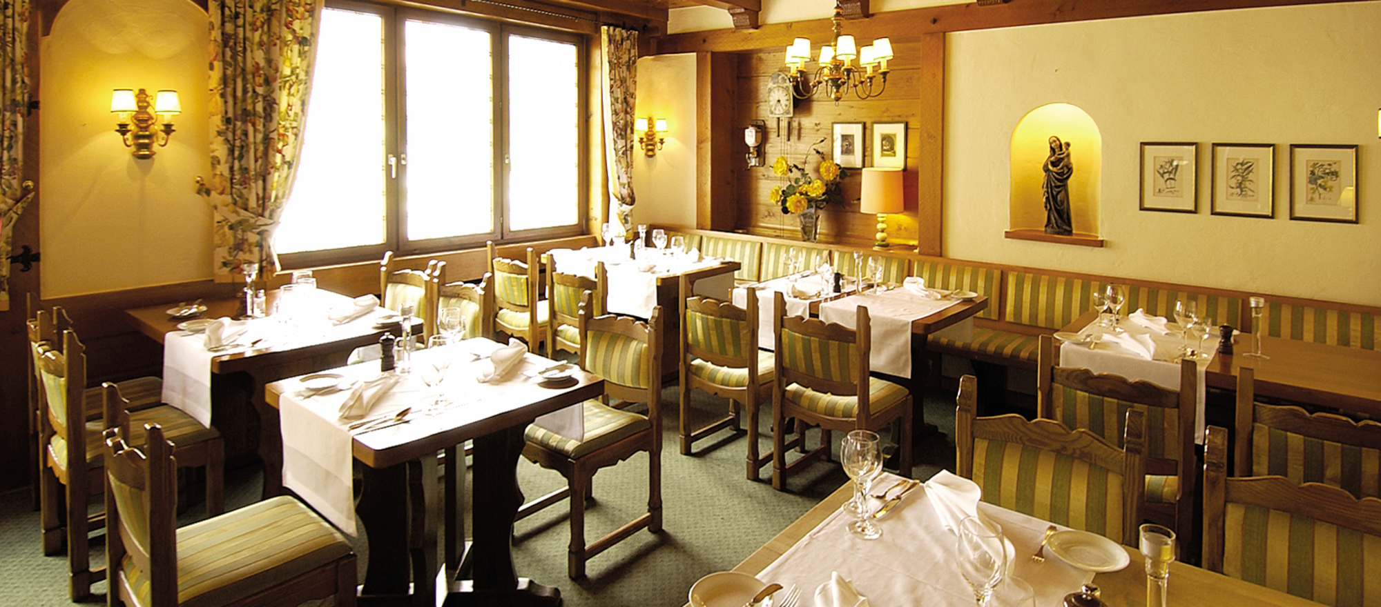 Perfect pleasure in a homely atmosphere at the restaurant in Ringhotel Zum Goldenen Ochsen in Stockach, 4 star hotel at Lake Constance