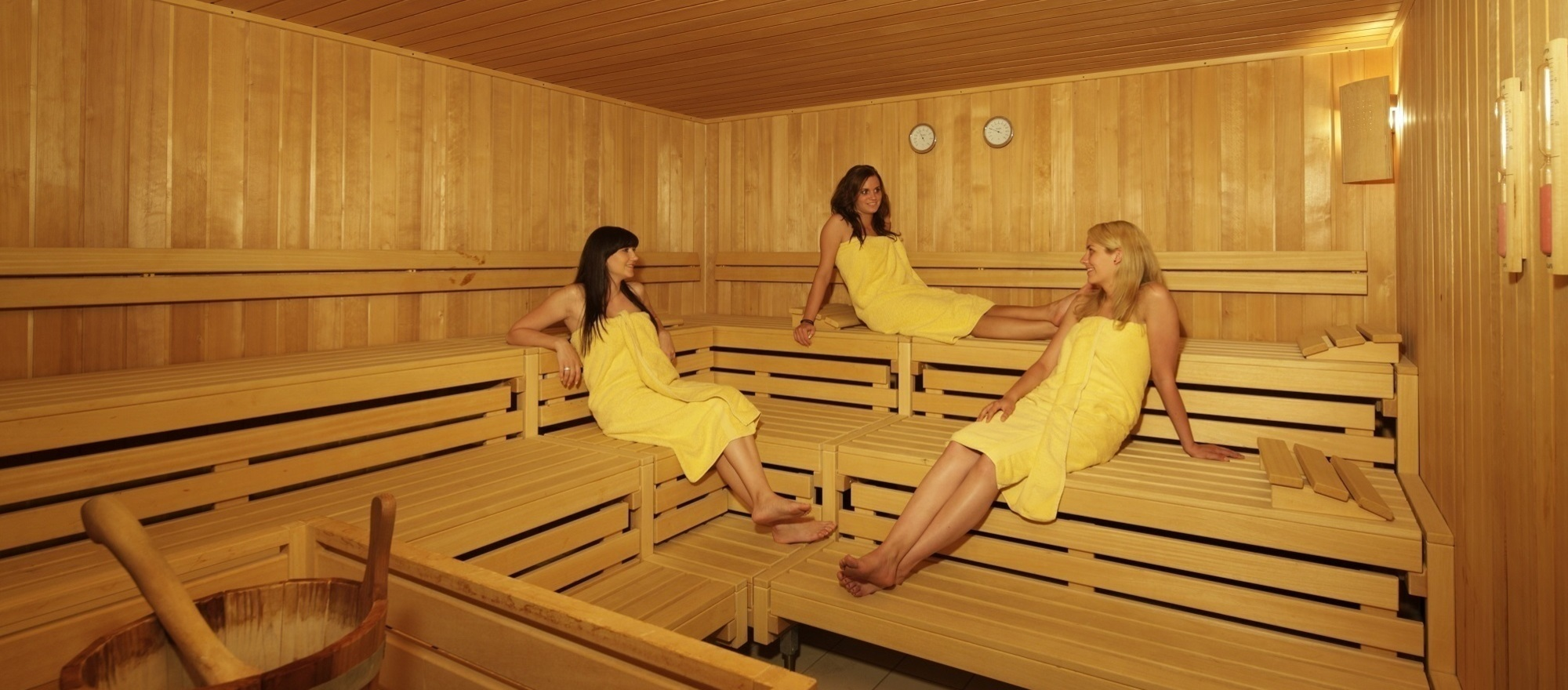 Finnish sauna at the at the 3-star hotel Ringhotel Germanenhof in Steinheim-Sandebeck
