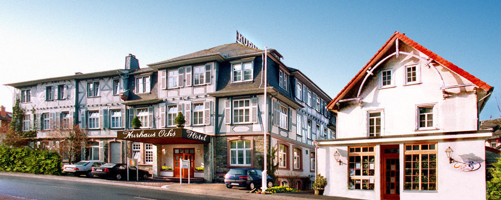 The 4-star hotel Ringhotel Kurhaus Ochs in Schmitten/Taunus is situated near Frankfurt in the magnificent natural landscapes of the Upper Taunus