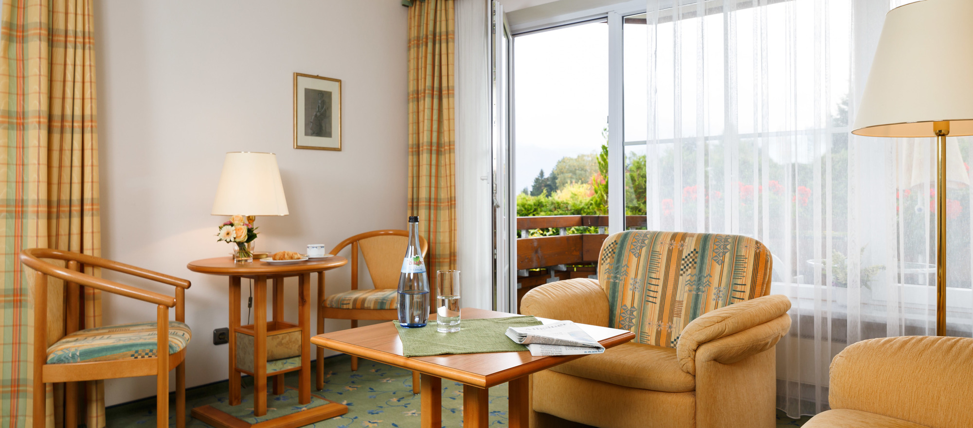 Superior room with view on the Oberstdorf mountains in Ringhotel Ferienhotel Nebelhornblick in Oberstdorf, 4 -star hotel in the Allgaeu
