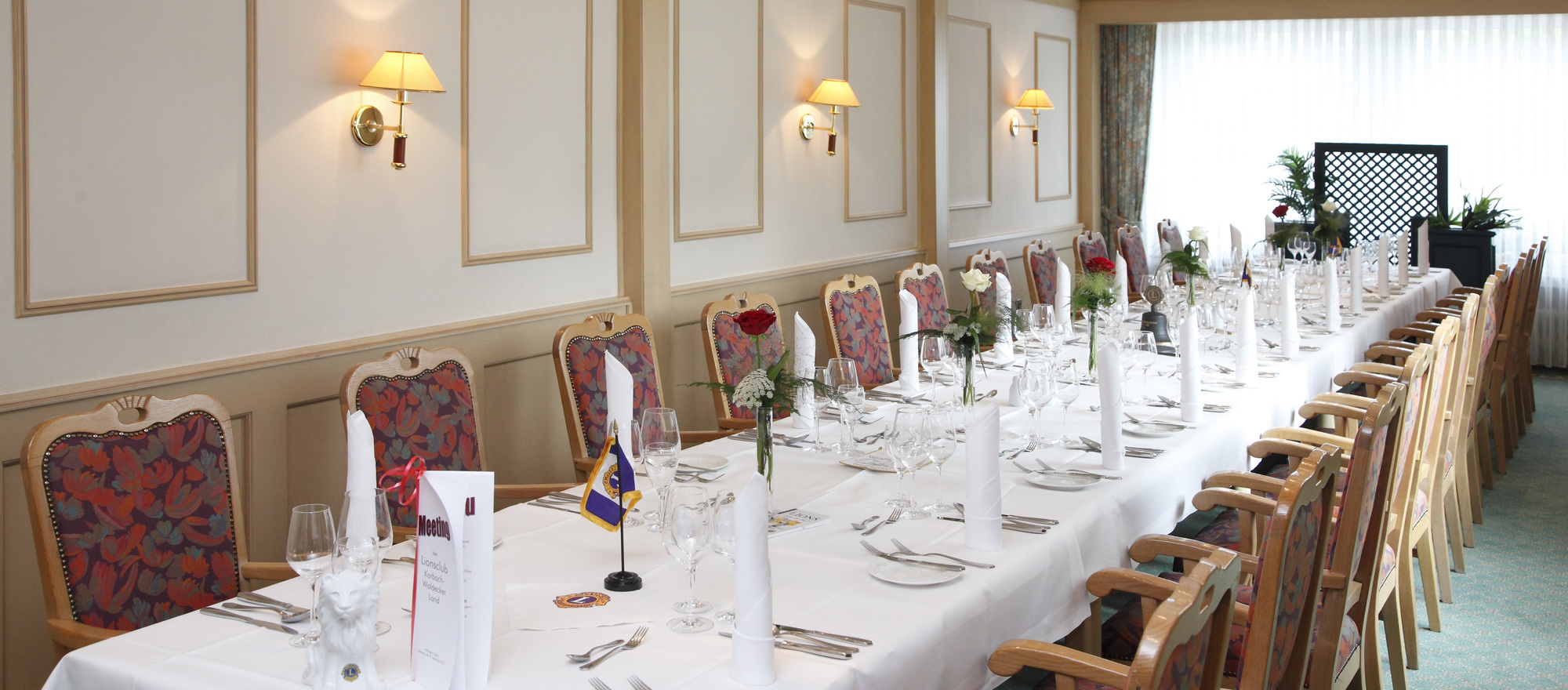 Elegant rooms for celebrations in the Ringhotel Posthotel Usseln in Willingen, 4-star hotel in Sauerland