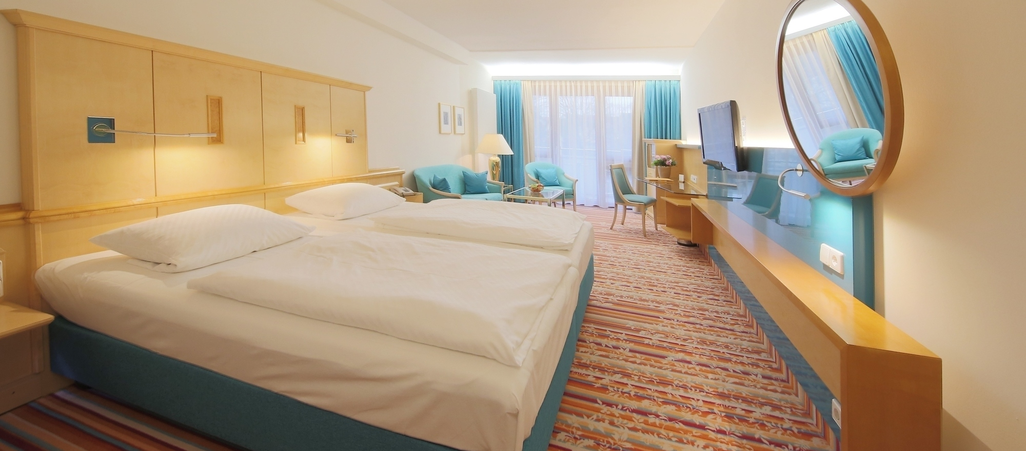 Double room in the Ringhotel Hohenlohe in Schwaebisch Hall, 4 stars superior hotel in the Heilbronner Land region