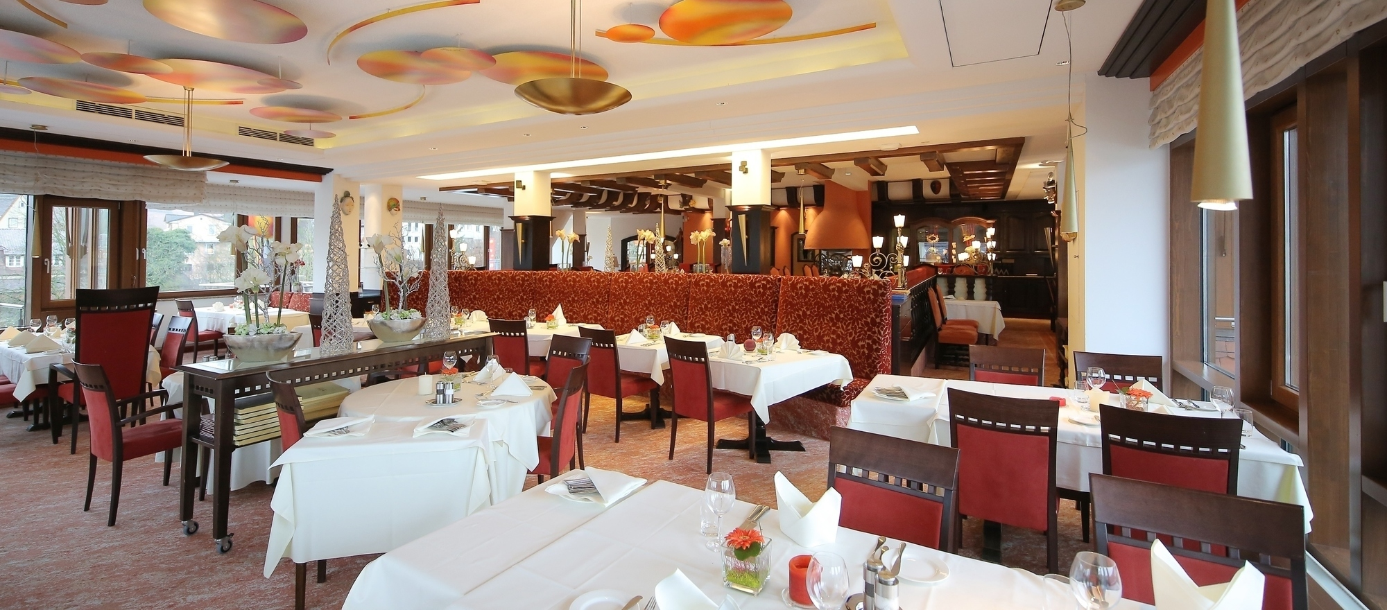 Restaurant at the Ringhotel Hohenlohe in Schwaebisch Hall, 4 stars superior hotel in the Heilbronner Land region