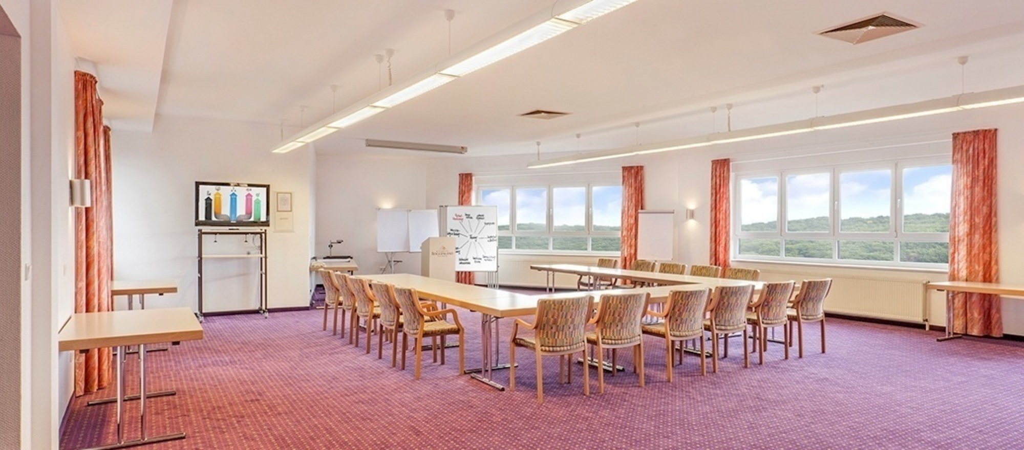 Conference room at the Ringhotel Roggenland in Waldeck, 4 stars hotel in Hessisches Bergland/Vogelsberg