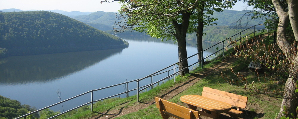Edersee lake close to the Ringhotel Roggenland, 4 stars hotel in the Hessisches Bergland/Vogelsberg